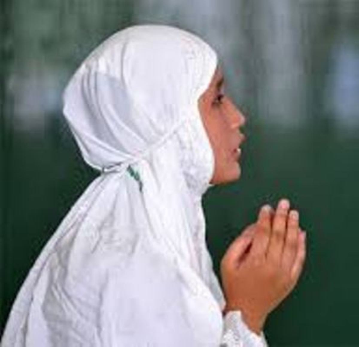 A Woman Praying, Asking from the Universe