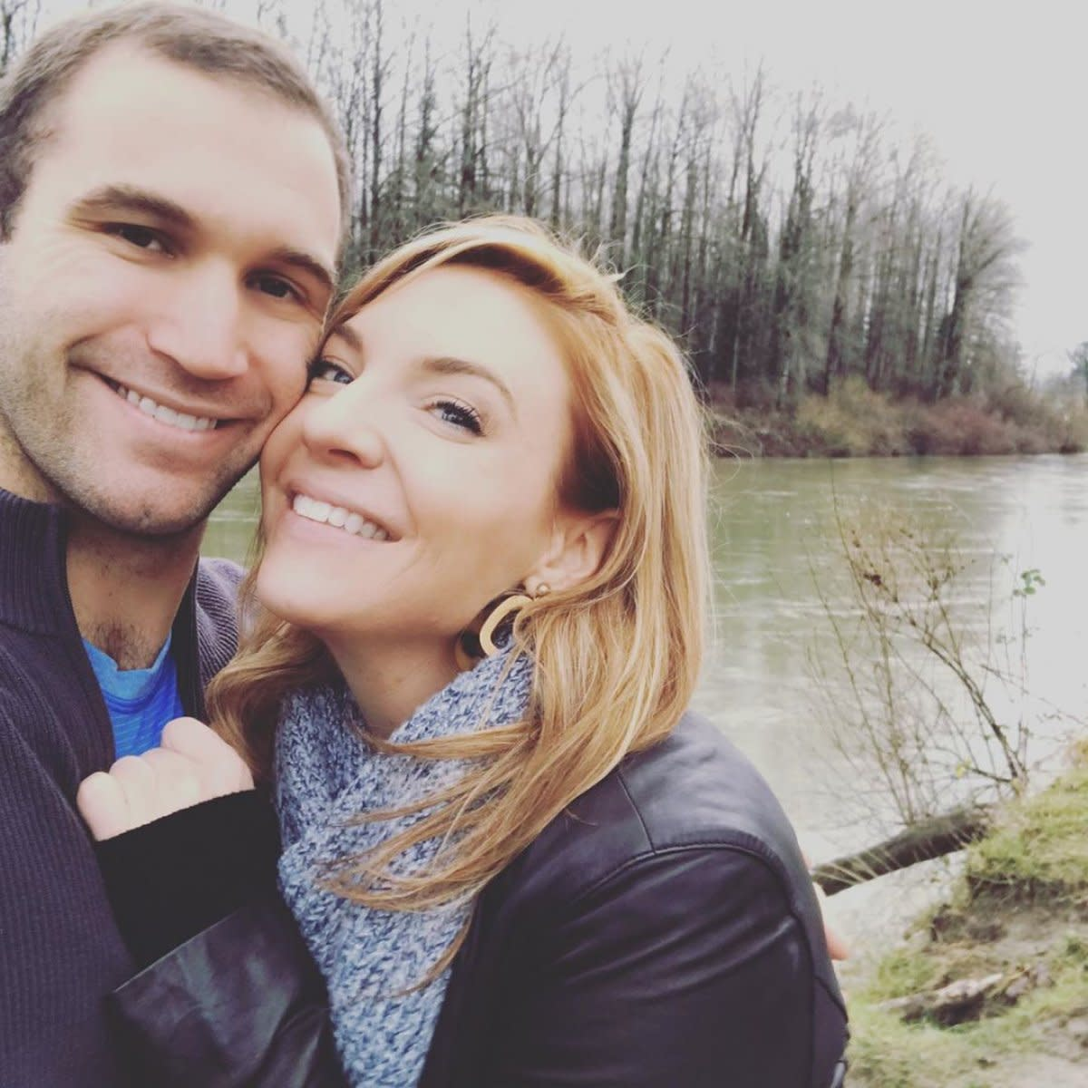 Newly engaged Dr. Jessica Griffin and Jon Francetic
