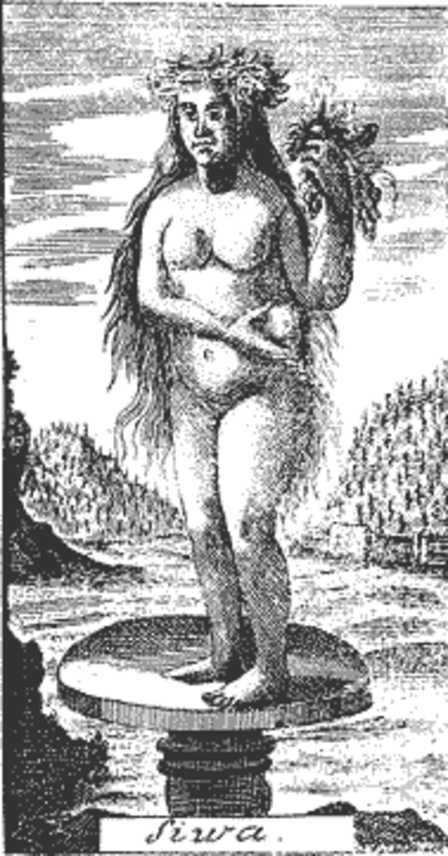 Goddess Siwa (Živa), Westphalen's book print, 1740