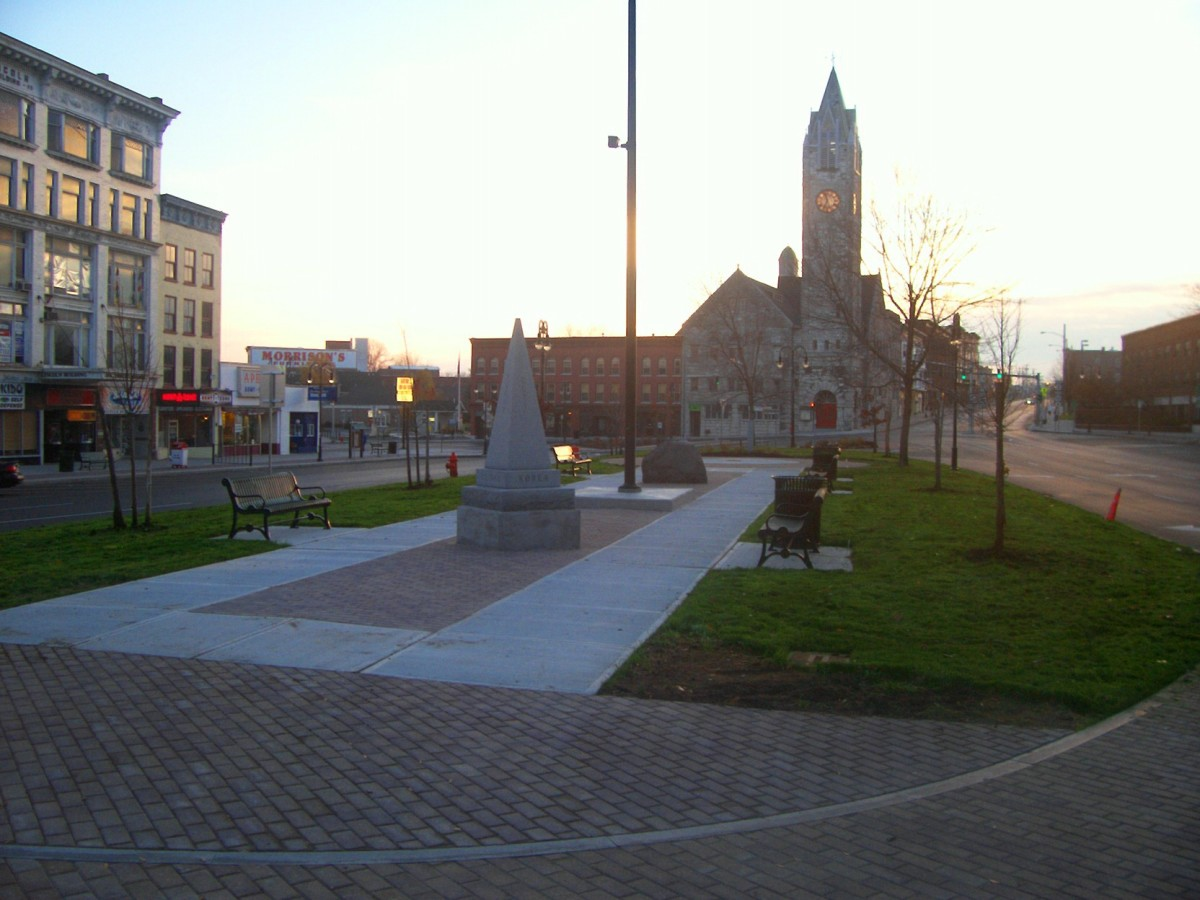 Public Square, Watertown, NY facing east.