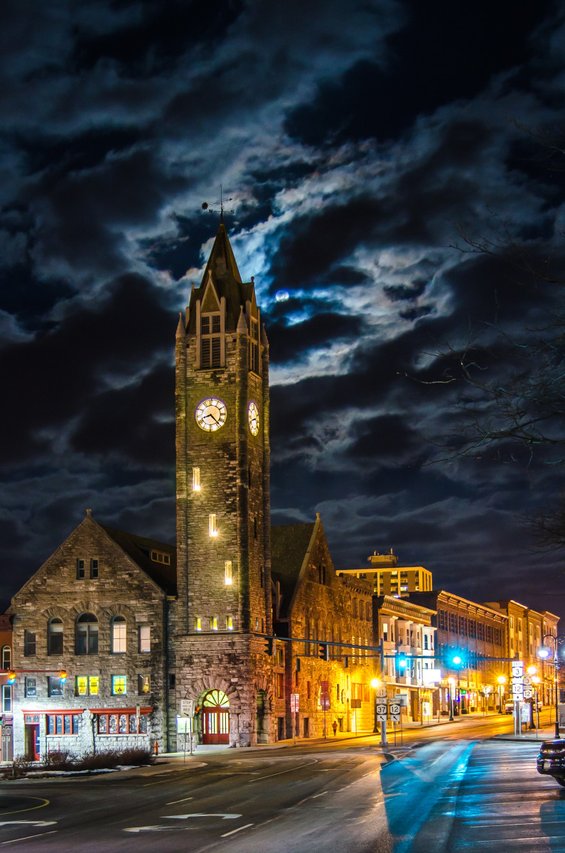 Clock on Public Square (Watertown, New York)