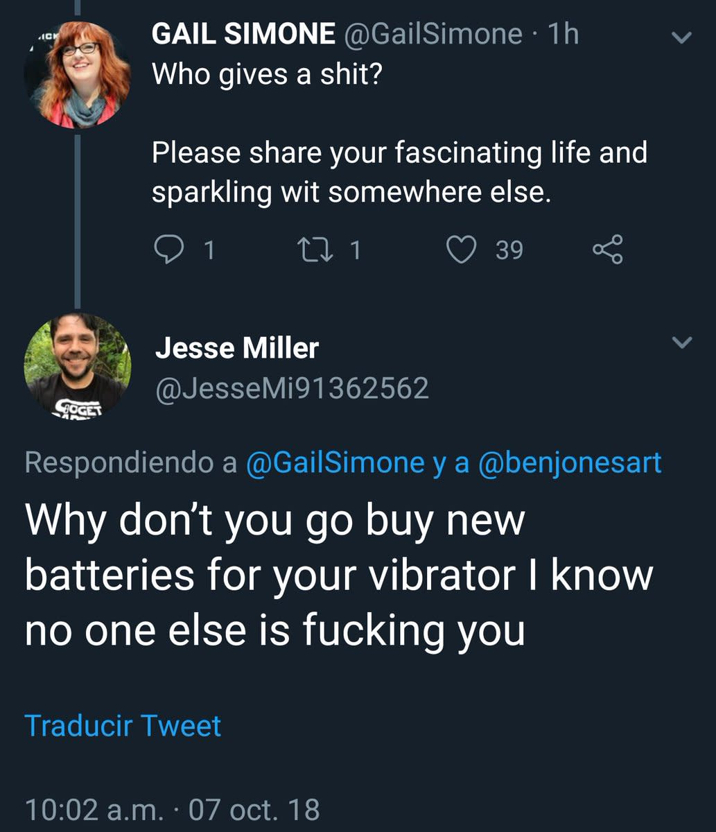 A sample of what Comicsgate subjects its victims to on a daily basis. And yes, It gets worse.
