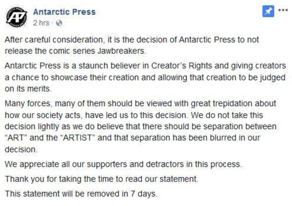 Antarctic Press canceling JawBreakers.