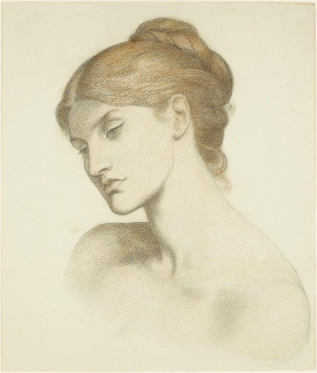 Alexa Wilding: (Lady Lilith – Study for the Head Dante Gabriel Rossetti circa 1872)
