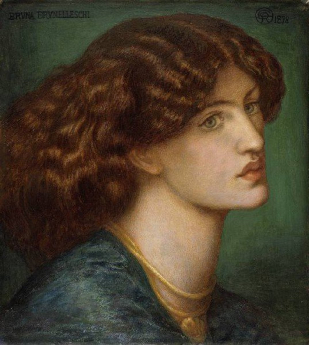 Jane Burden Morris: 'Bruna Brunelleschi' circa 1878.