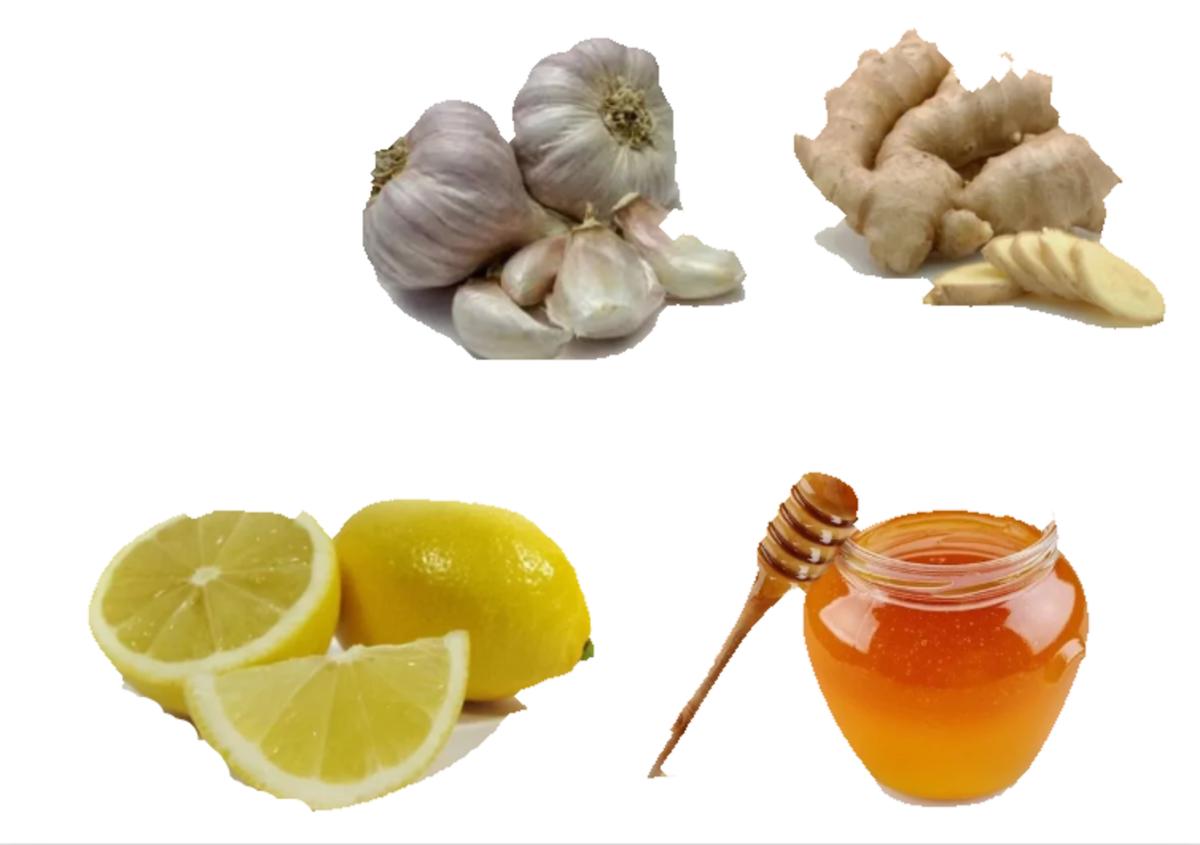 Key Ingredients: Ginger, Garlic, Lemon, Honey