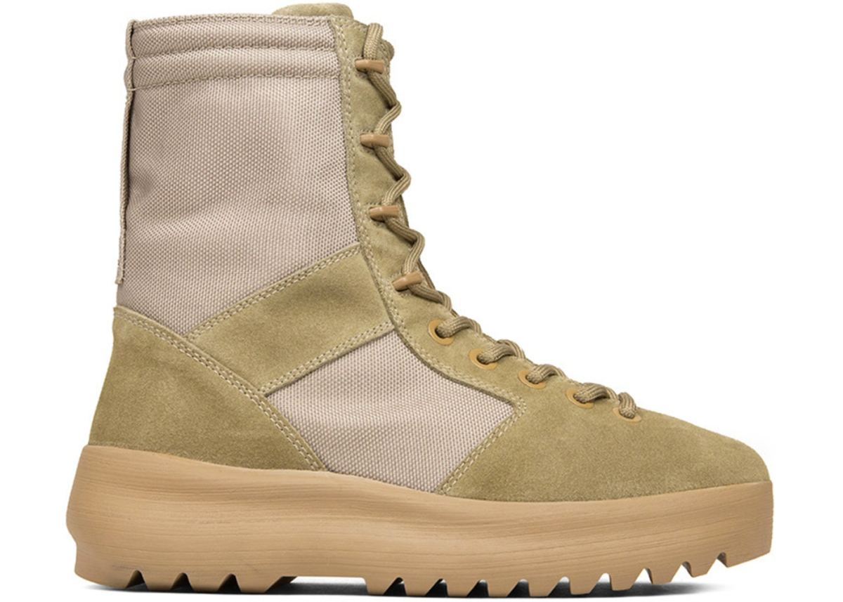 Yeezy has modified the combat boot to make it more consumer friendly, using the utilitarian vibe to be both useful and fashionable