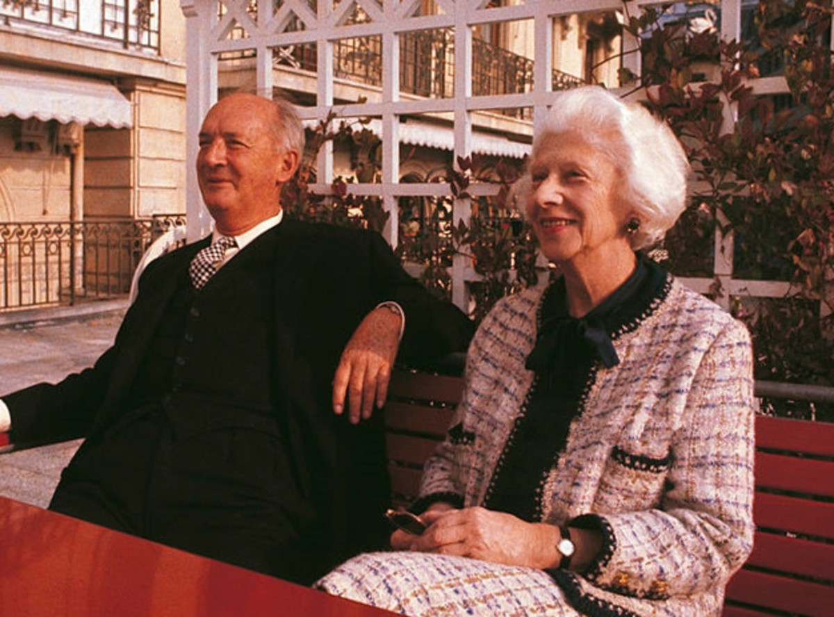 Vladimir Nabokov with his wife, Vera