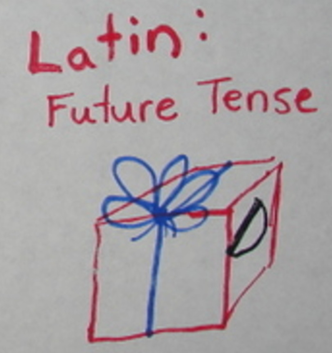 "Latin future tense starts with a ""bow."""