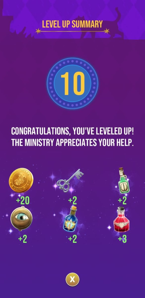 The rewards the player receives for reaching level 10