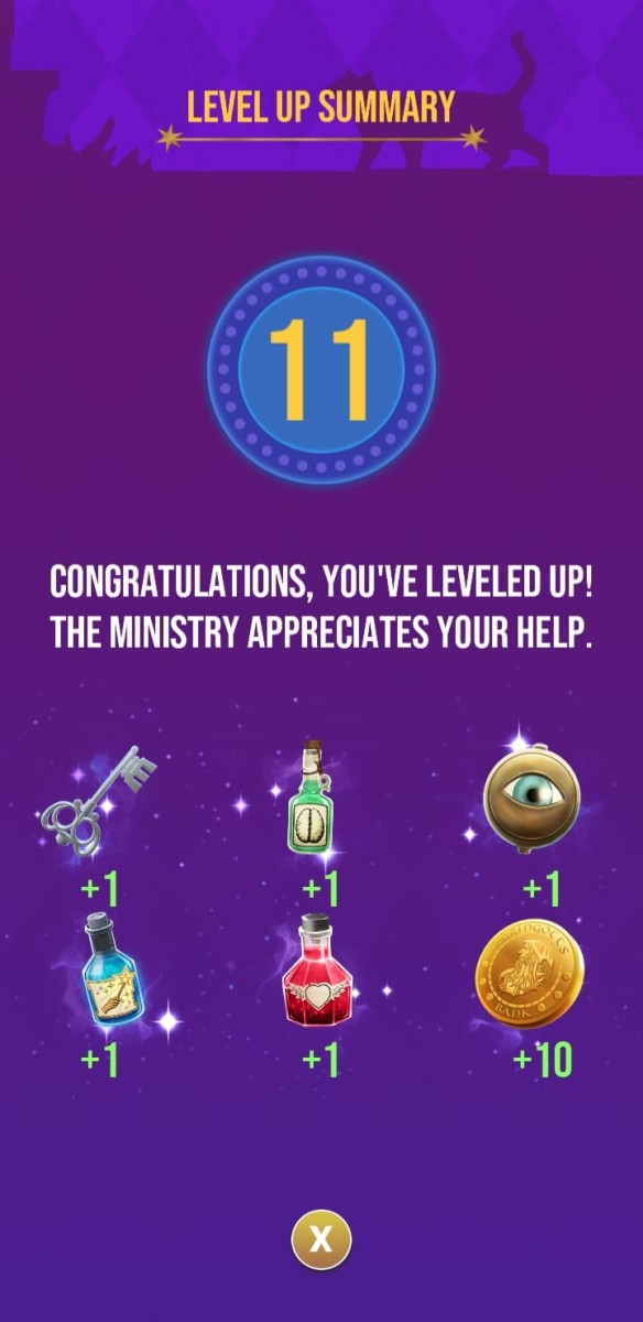 The rewards the player receives for reaching level 11
