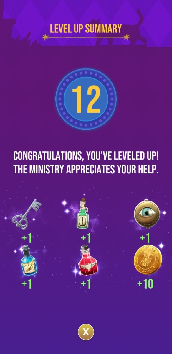 The rewards the player receives for reaching level 12
