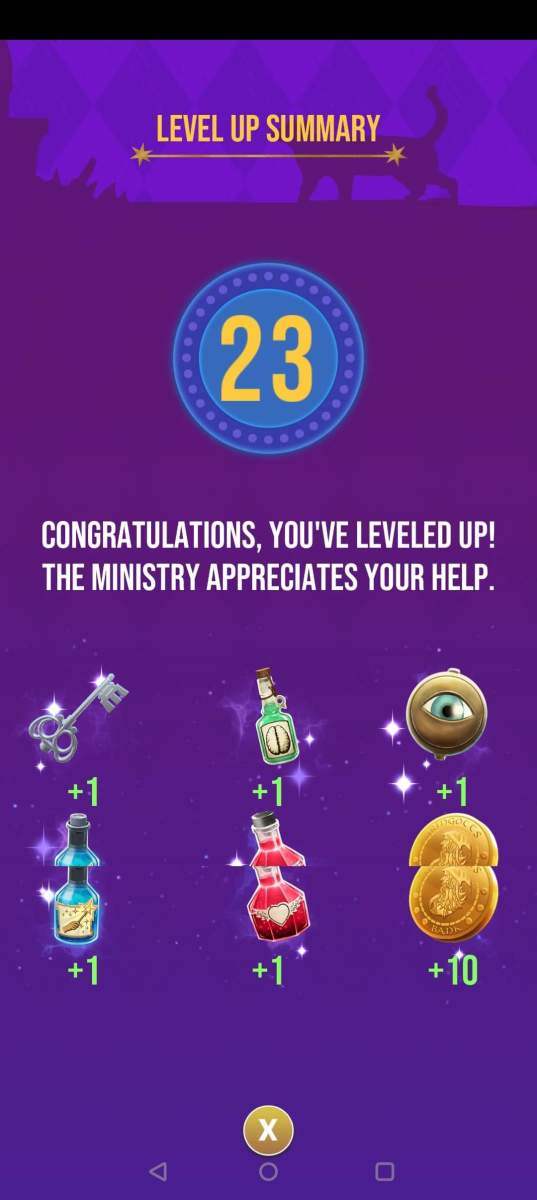 The rewards the player receives for reaching level 23