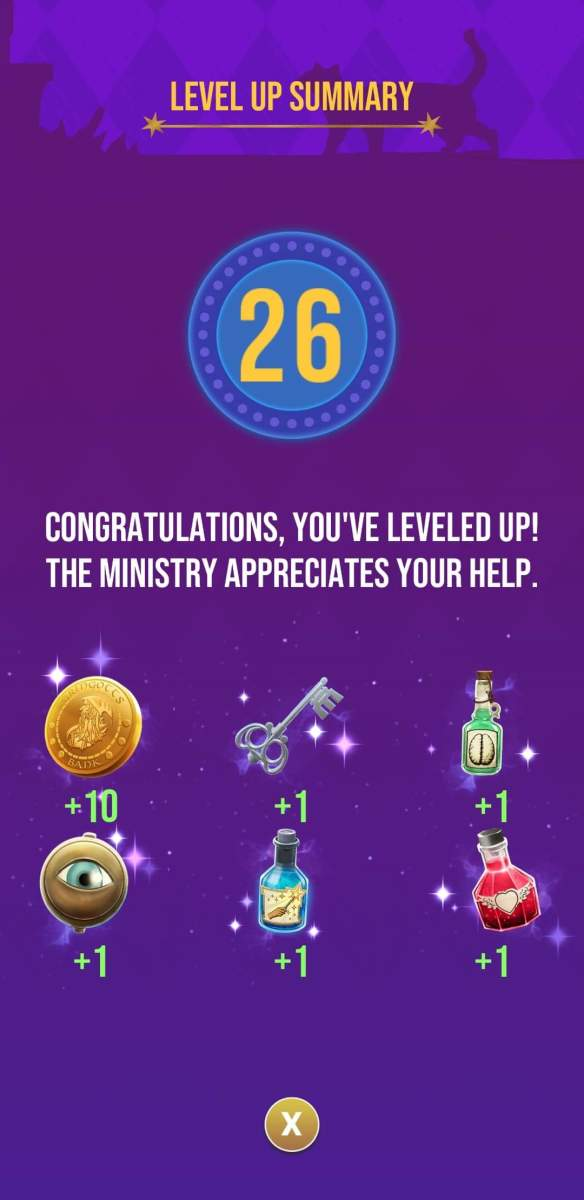 The rewards the player receives for reaching level 26