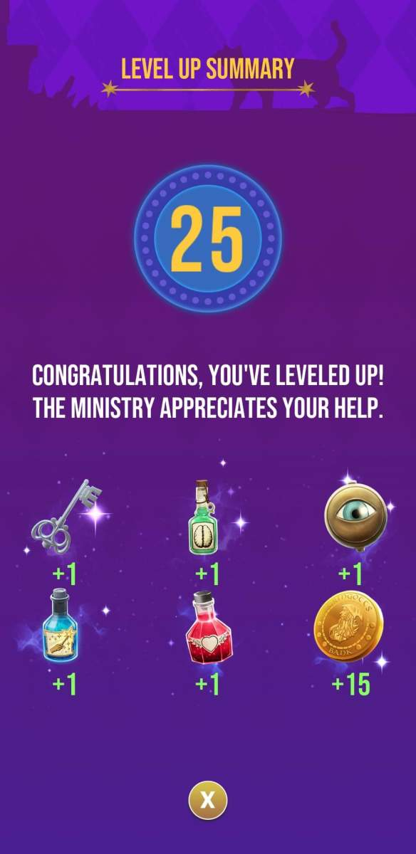 The rewards the player receives for reaching level 25