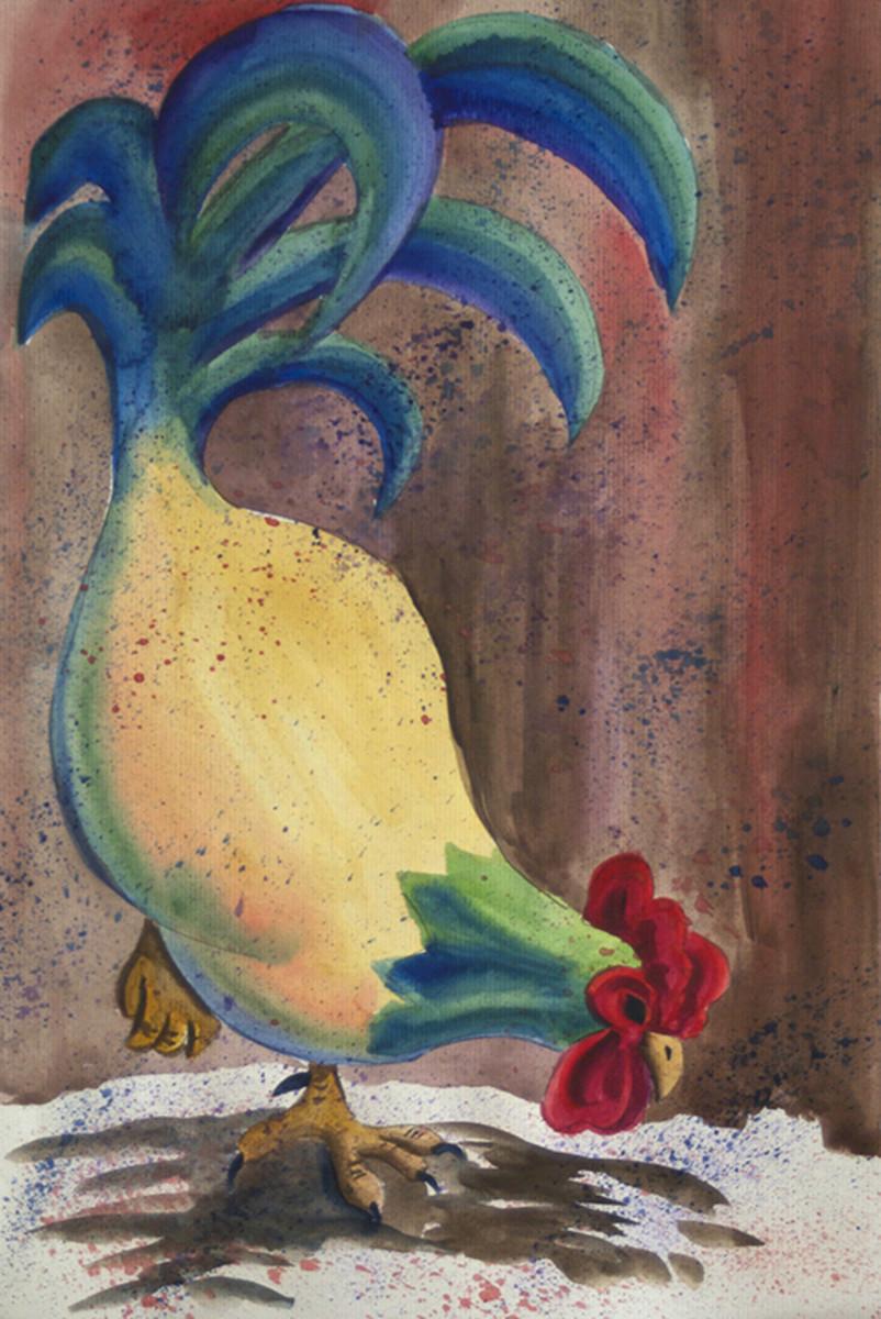 Splatter rooster
