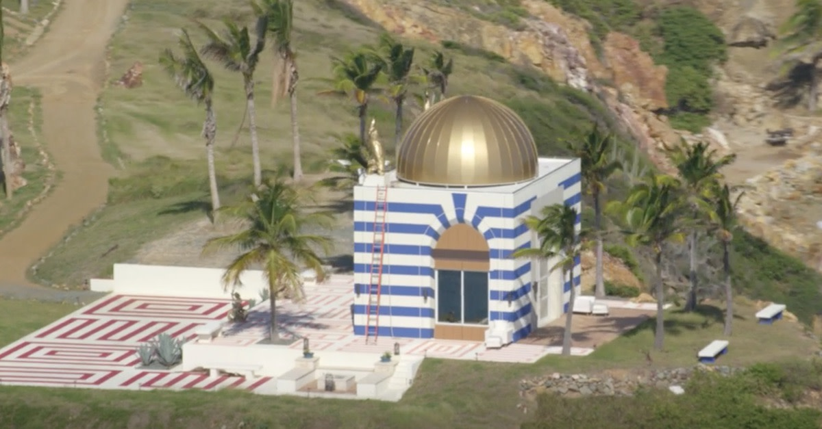 Temple-like structure on Epstein's private island