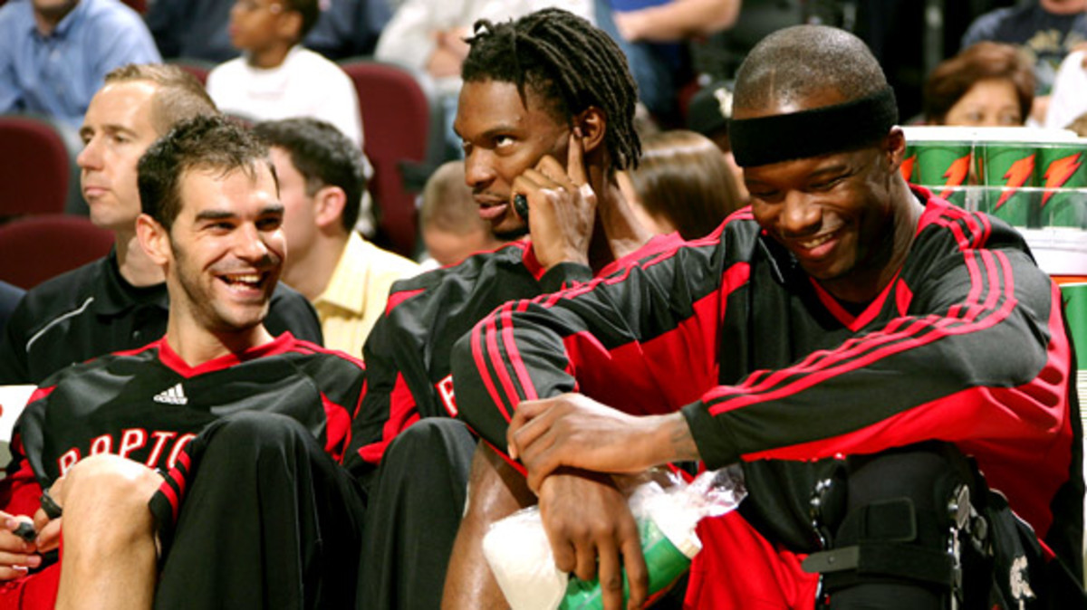 Bosh with dreads before he went to Miami