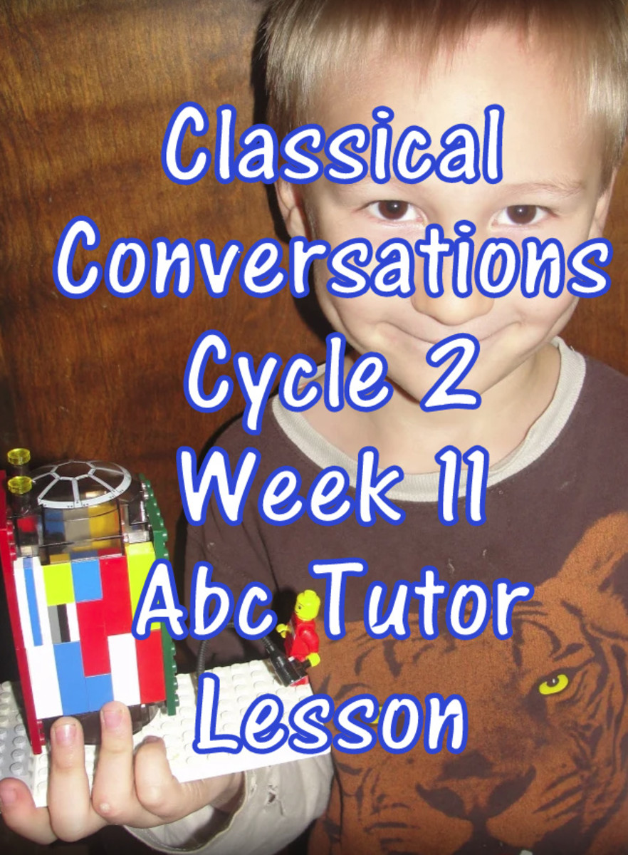 CC Classical Conversations Cycle 2 Week 11 Abc Tutor Lesson Plan