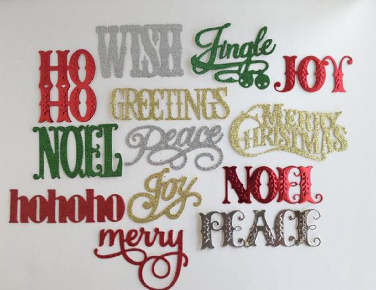 Die cut sentiments can be used as a single layer or in multiple layers for more demention