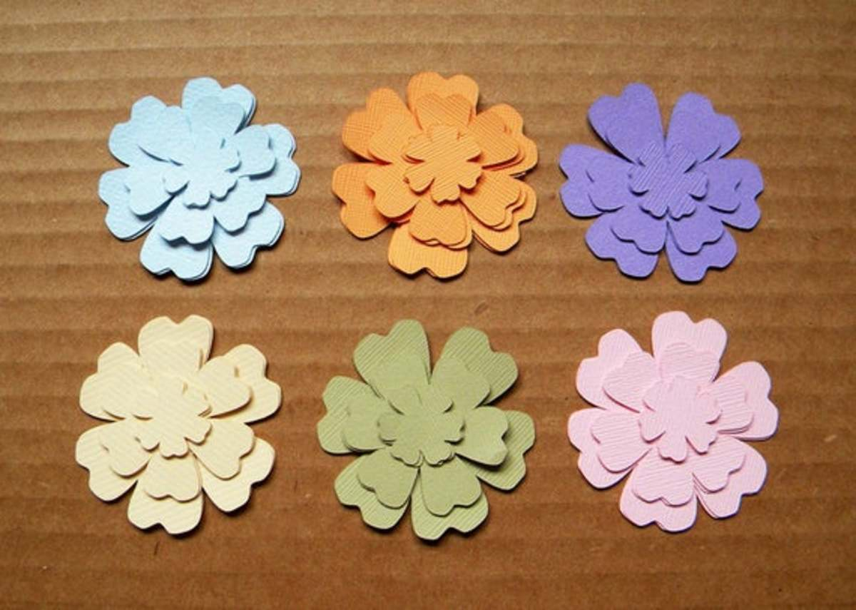 Die cut flowers are the perfect way to use even the smallest crafts.