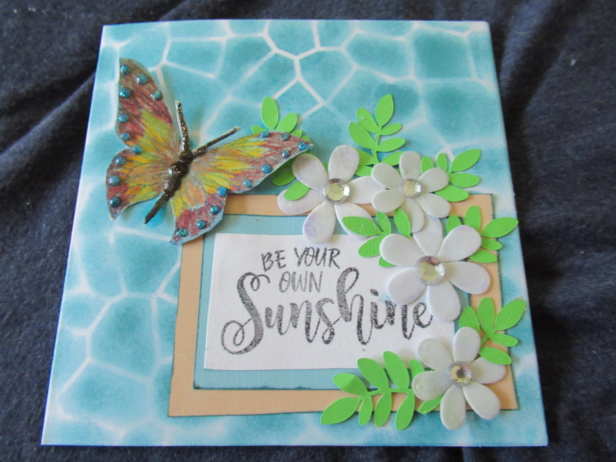 Making embellishments and layering them is a great way to use paper scraps