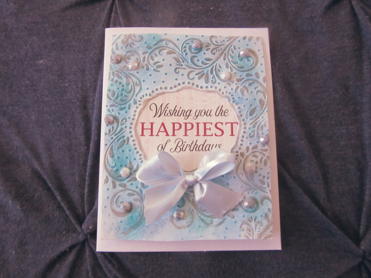An embossed card can be as simple or as elegant as you chose it to be