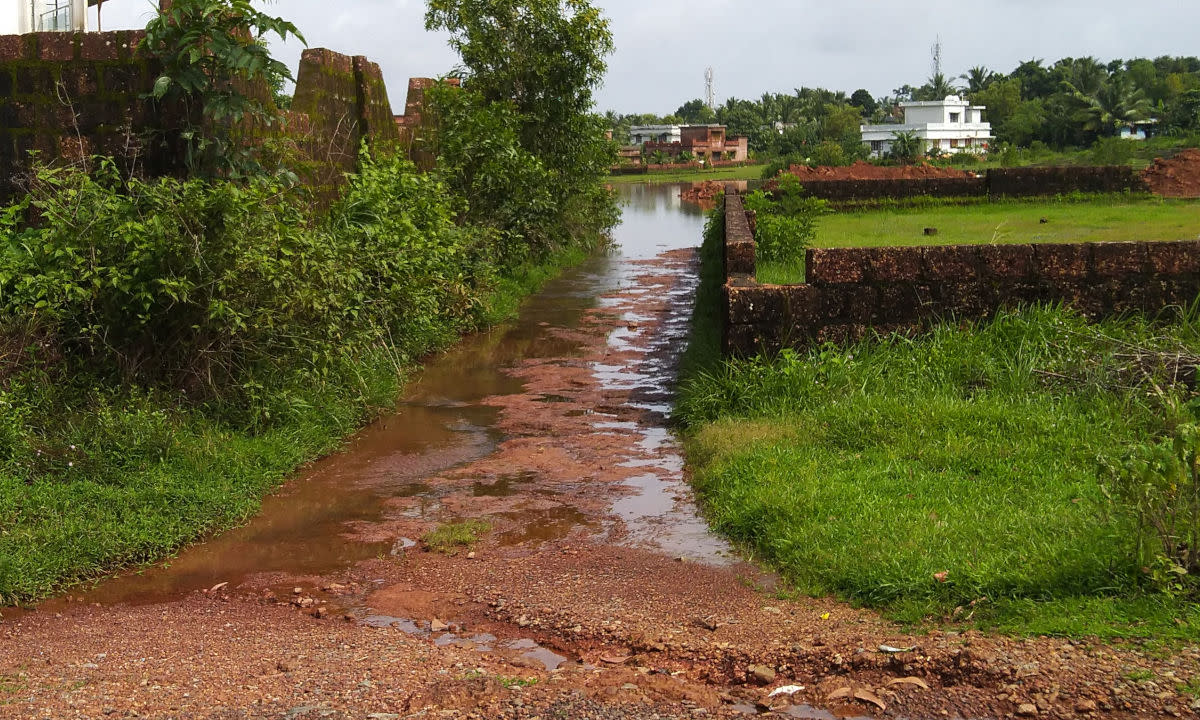 Rain-fed catchment forming source of a river
