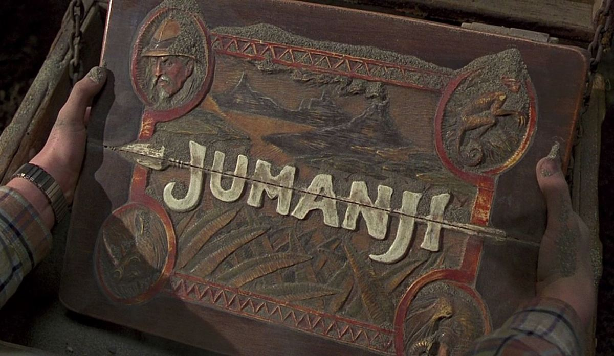 The Jumanji board game.