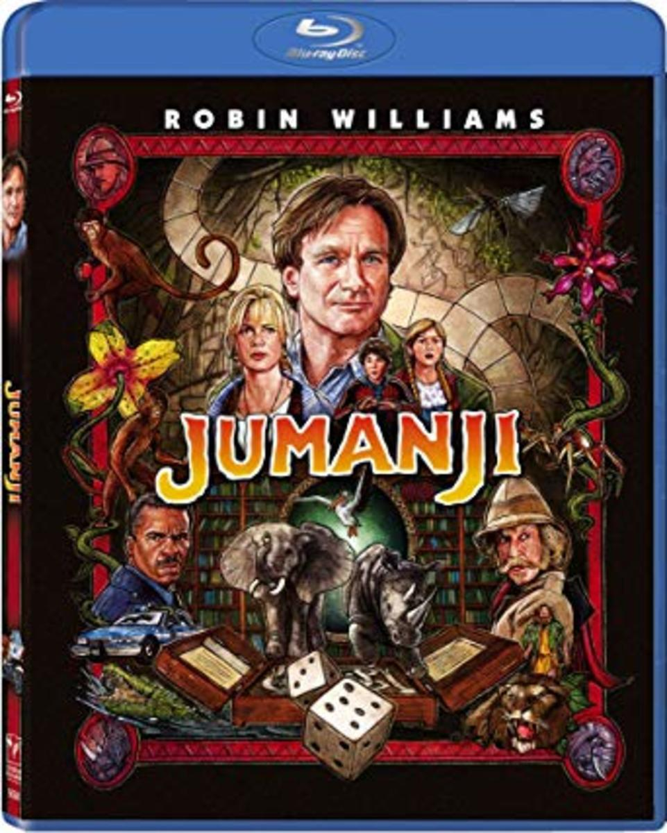 Jumanji Remastered Blu-ray cover.