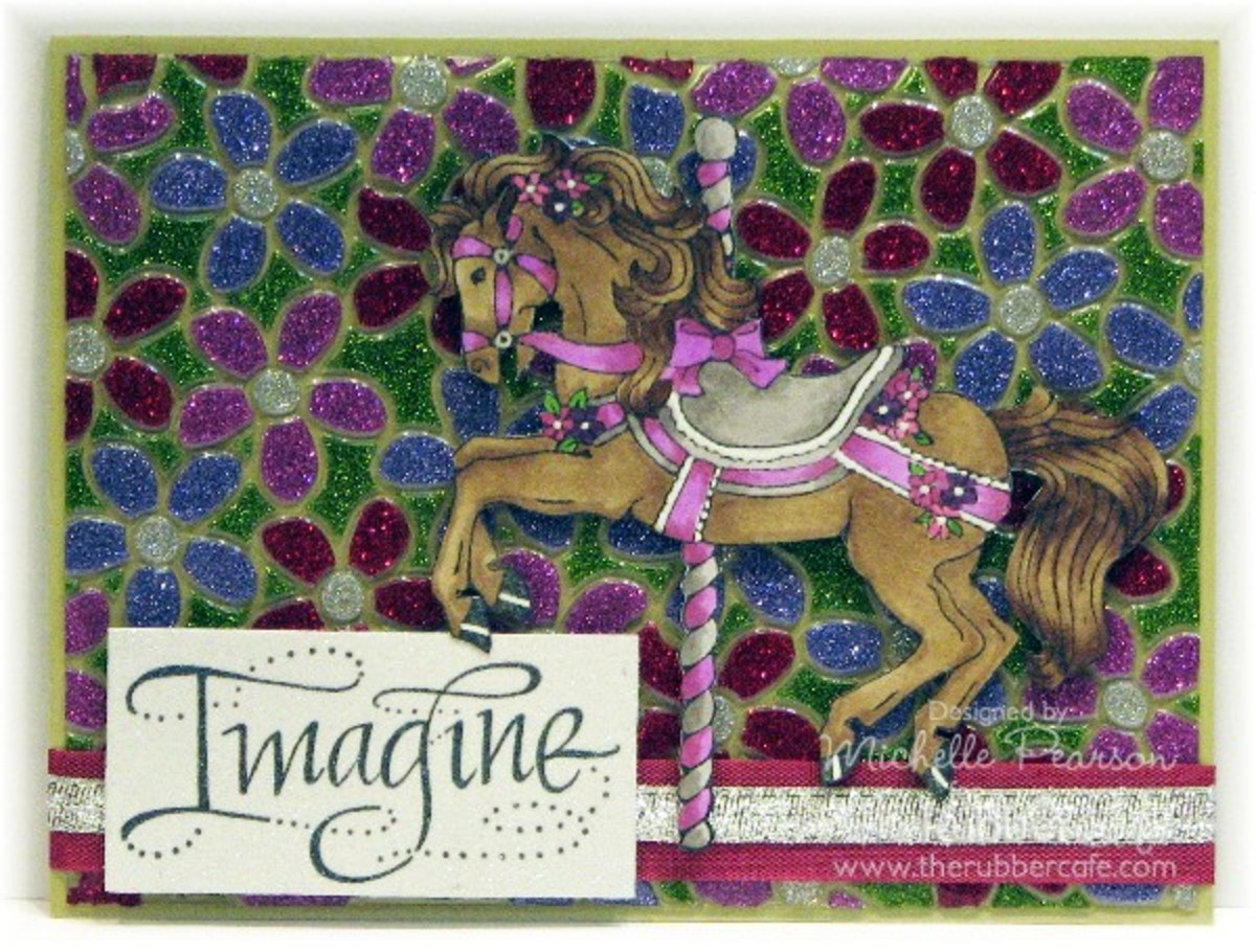 You can combine glitter glue with embossing folders to create unique art