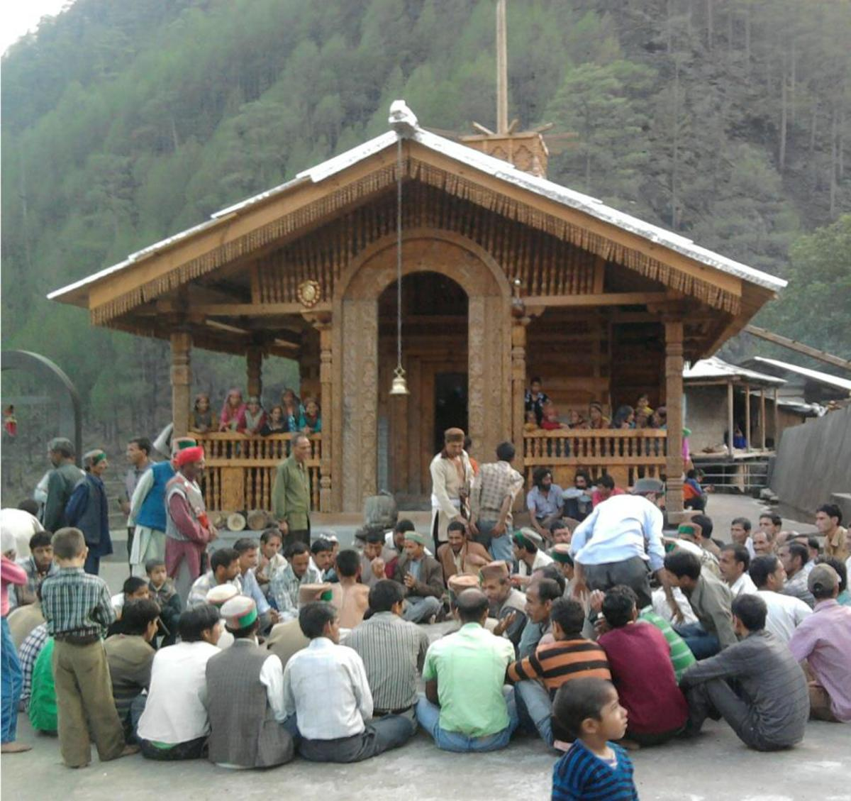 People at Pokhu Devta Temple