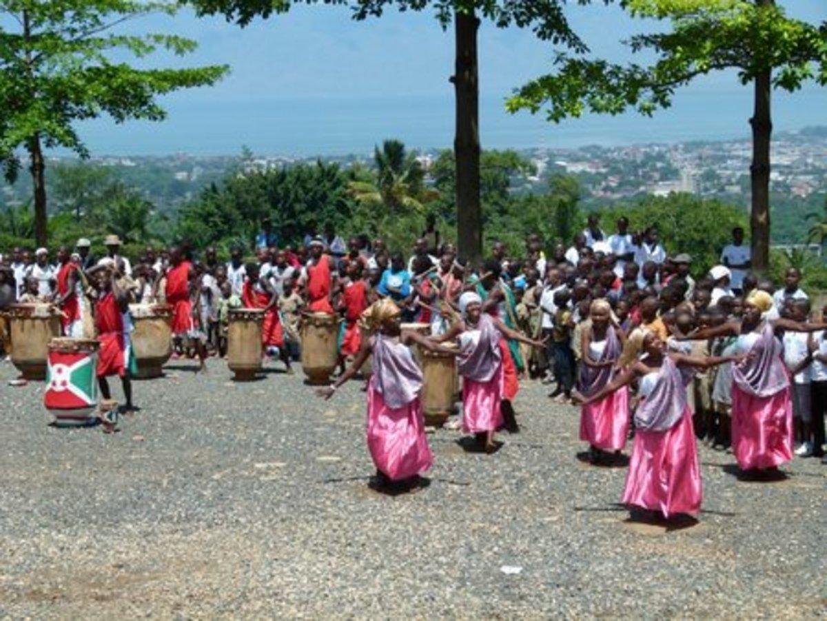 celebratory drums of victory, Bujumbura, Burundi