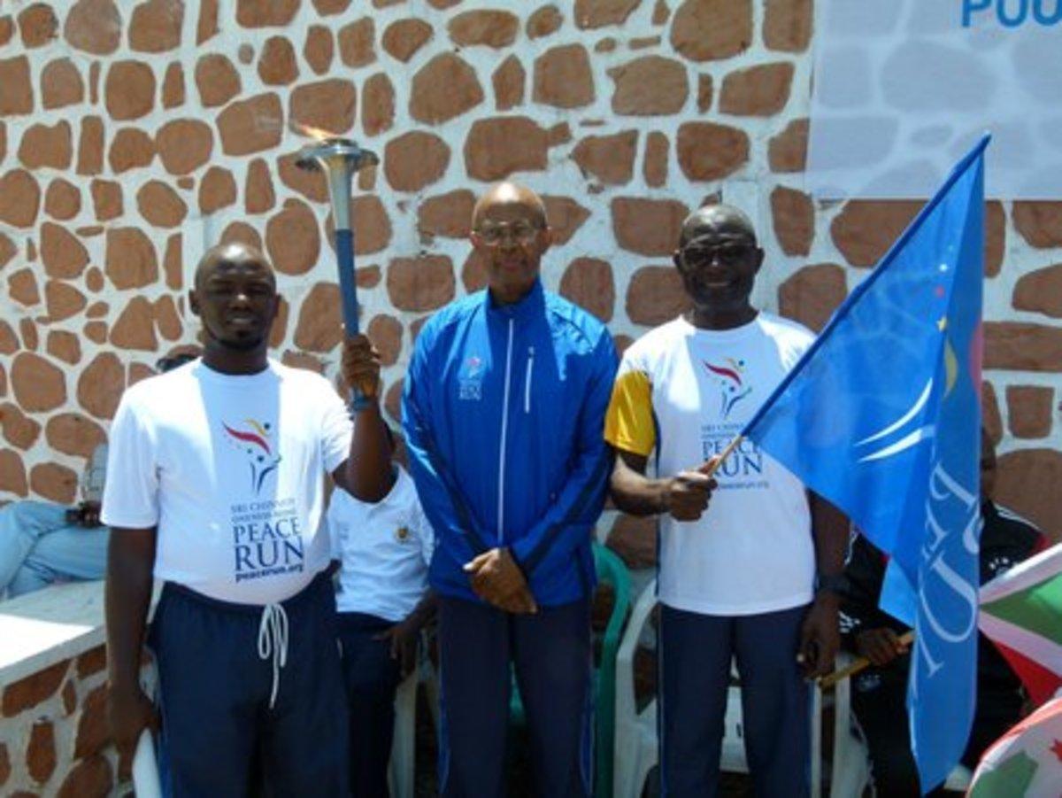 Manatita on the Sri Chinmoy Oneness-Home Peace Run - Southern Hemisphere, in Bujumbura, Burundi
