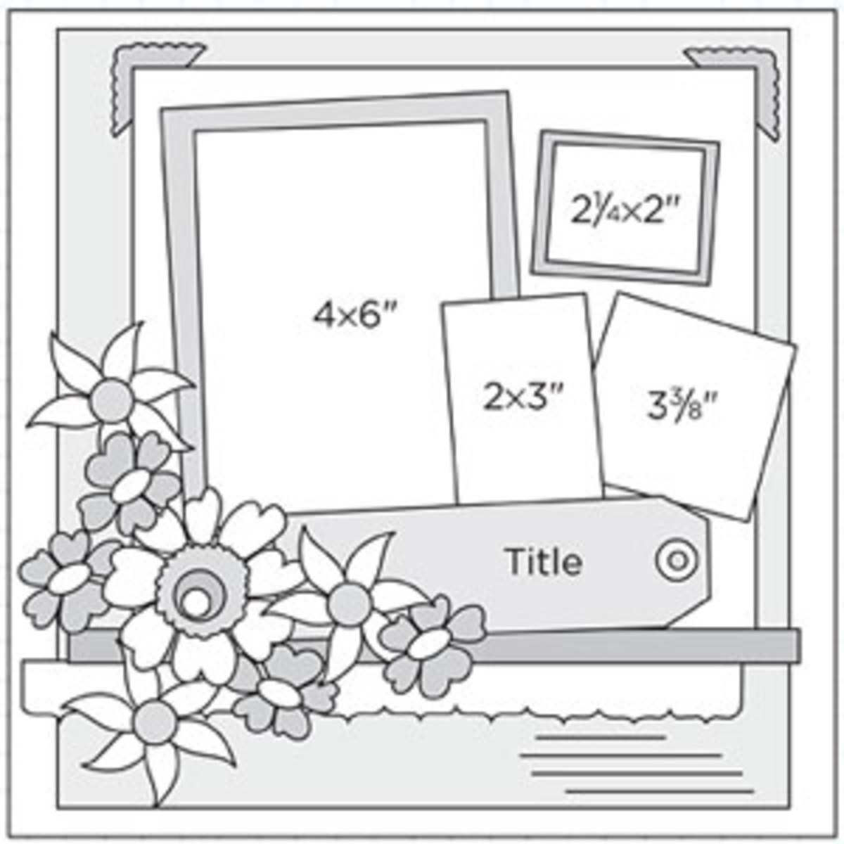 A scrapbook sketch is a quick way to create a page or a layout in the least amount of time Just go to your browser, type in scrapbook sketches and chose images. You will find sketches for just about any theme.
