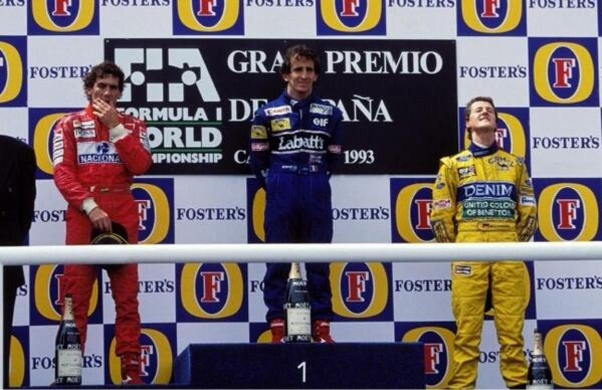 The 1993 Spanish GP: Three Legends - Prost, Senna and Schumacher - Sharing the Podium