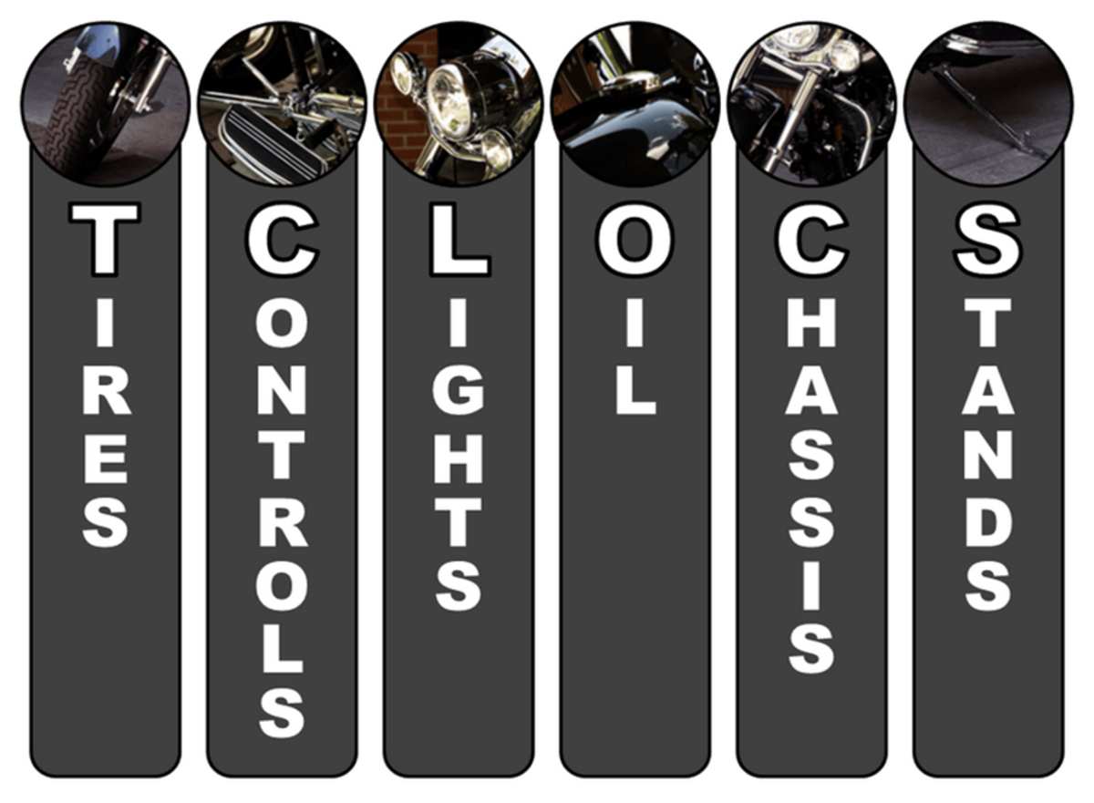 T-CLOCS: Motorbike Maintenance Checklist
