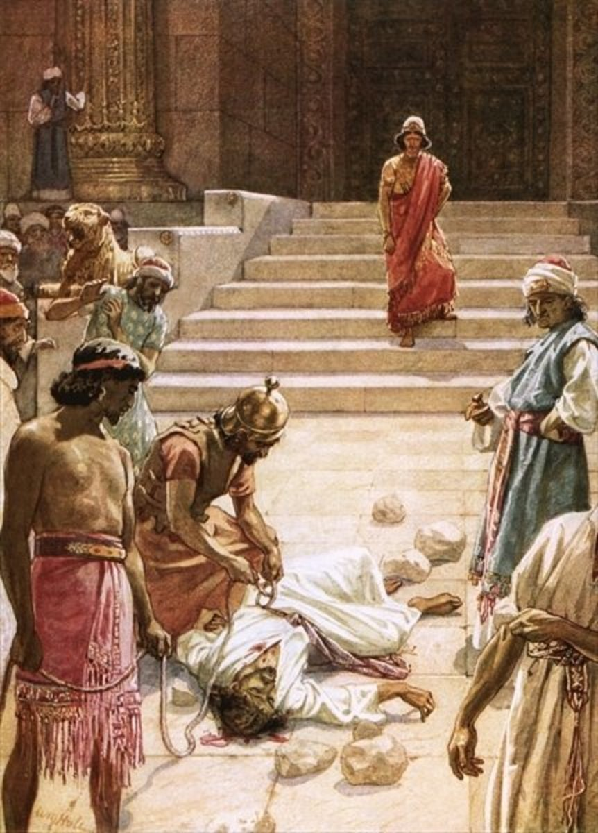Zechariah stoned to death