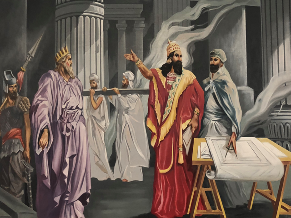 The Three Original Grand Masters of the Masons are King Solomon, King Hiram, and Hiram Abiff the Master Builder of the Temple of Solomon (according to myth)