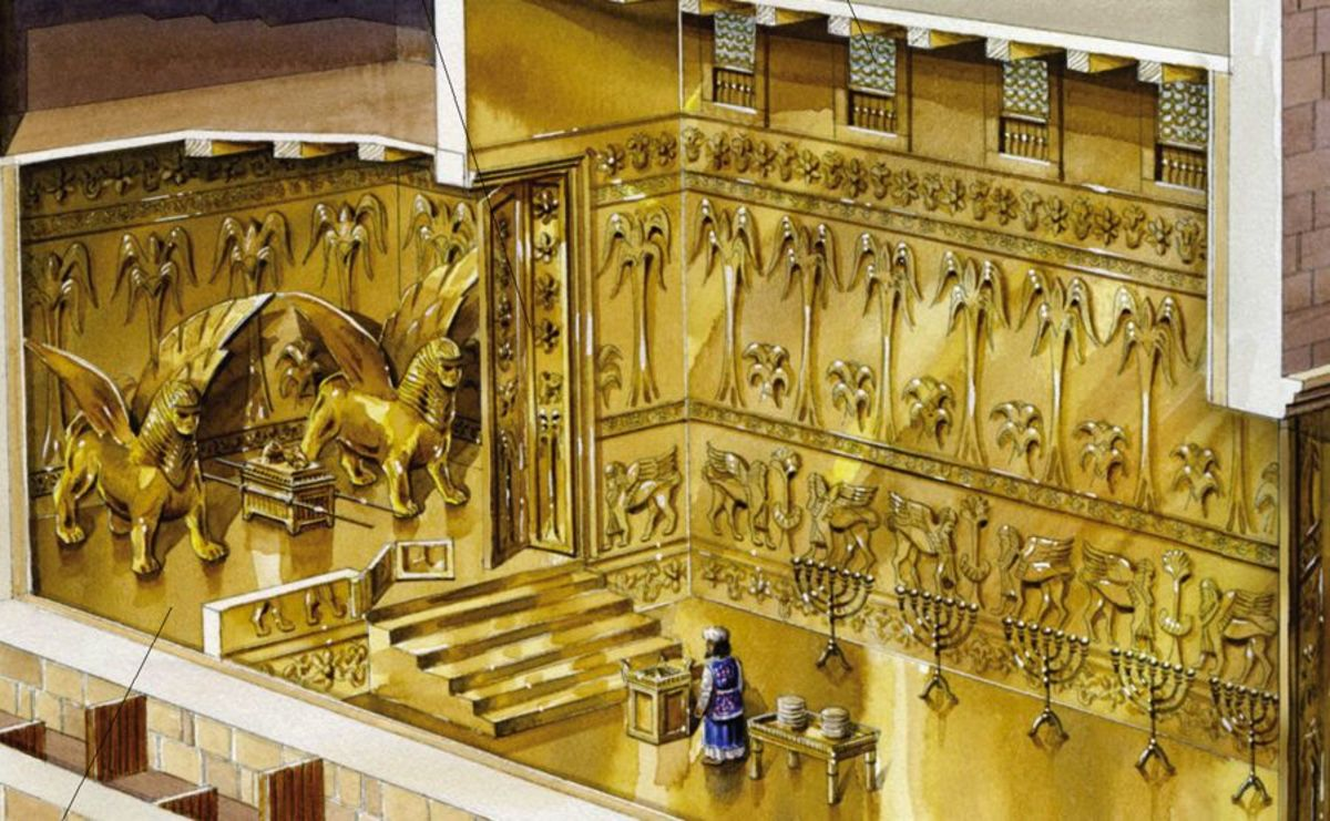 The First Temple of Jerusalem, Built by King Solomon