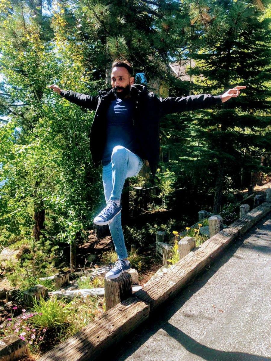 Kiran in his adventurist spirits