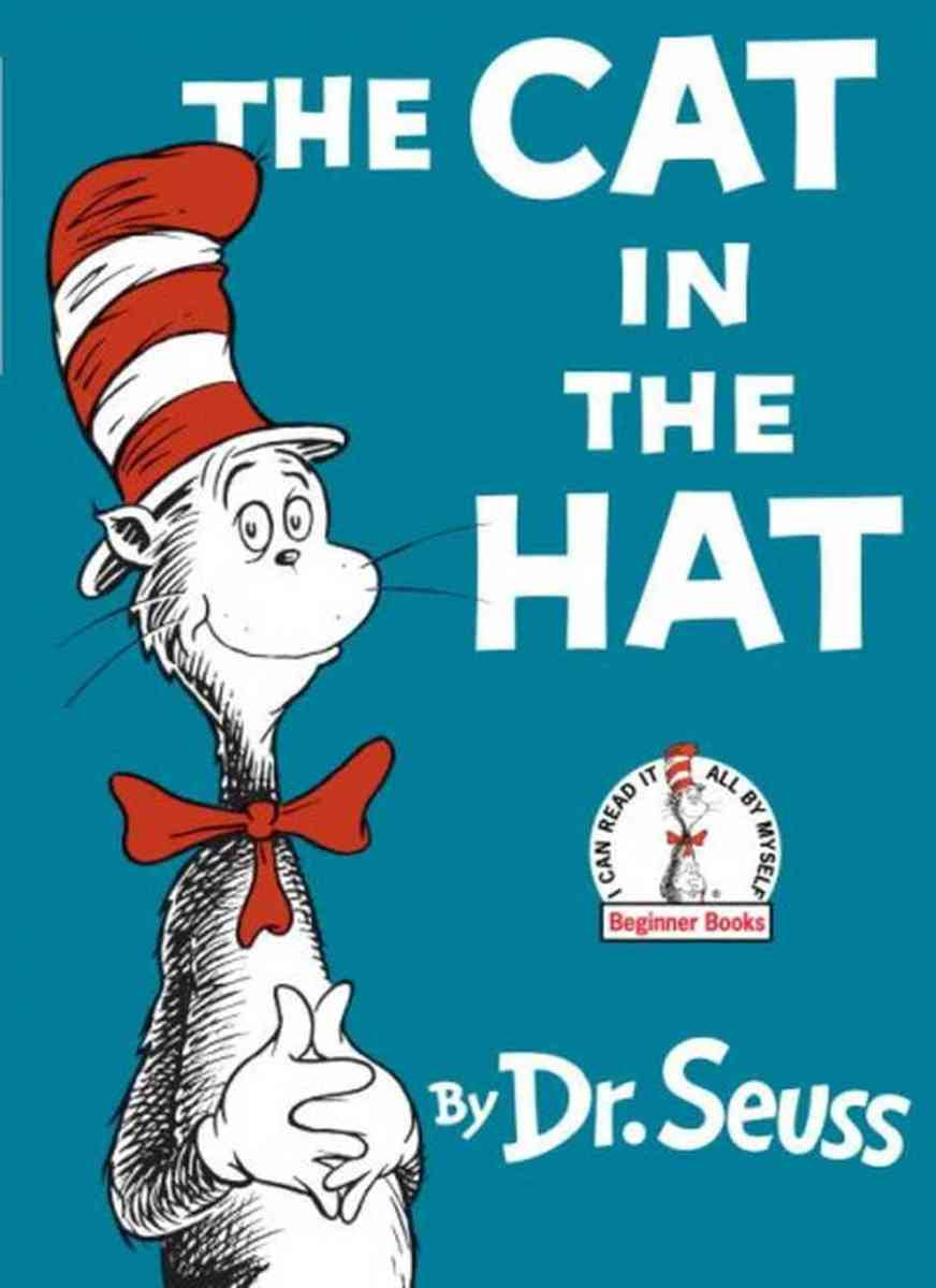 The Cat in the Hat book written by Dr. Seuss