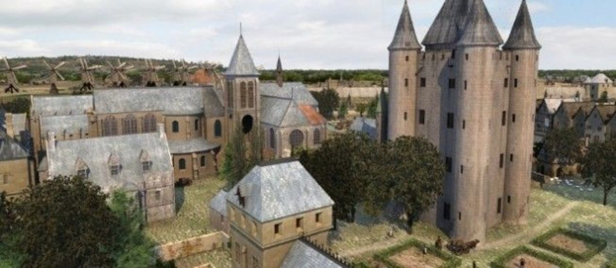 Headquarters of the Knights Templar near Paris France