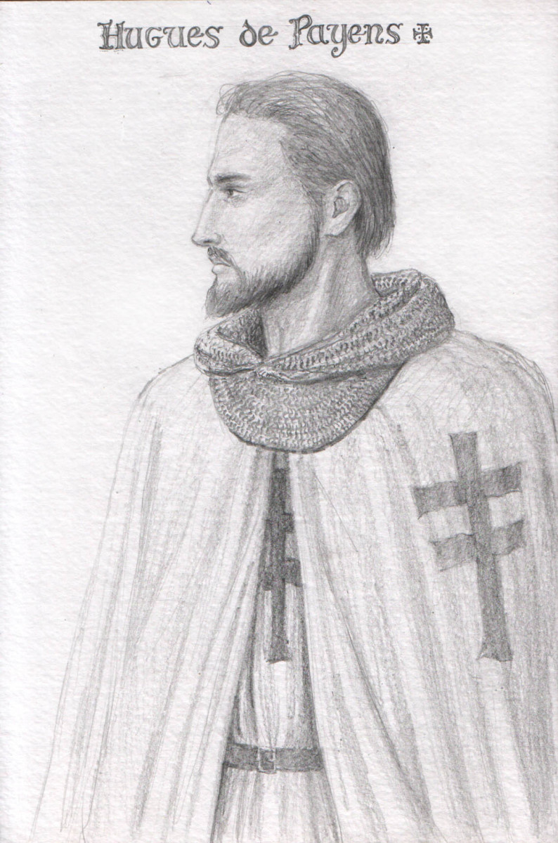 Hugh de Payens, Founder of the Knights Templar