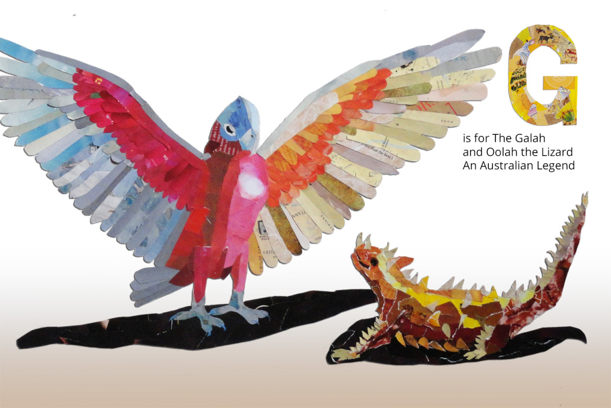 G is for the Galah and Oolah the Lizard