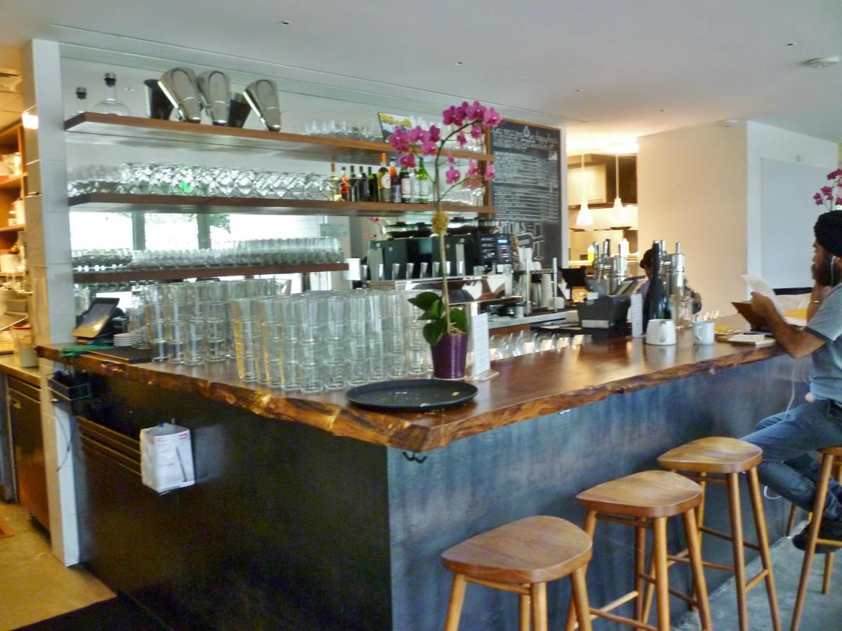 Bistro Menil Bar Area at Entrance
