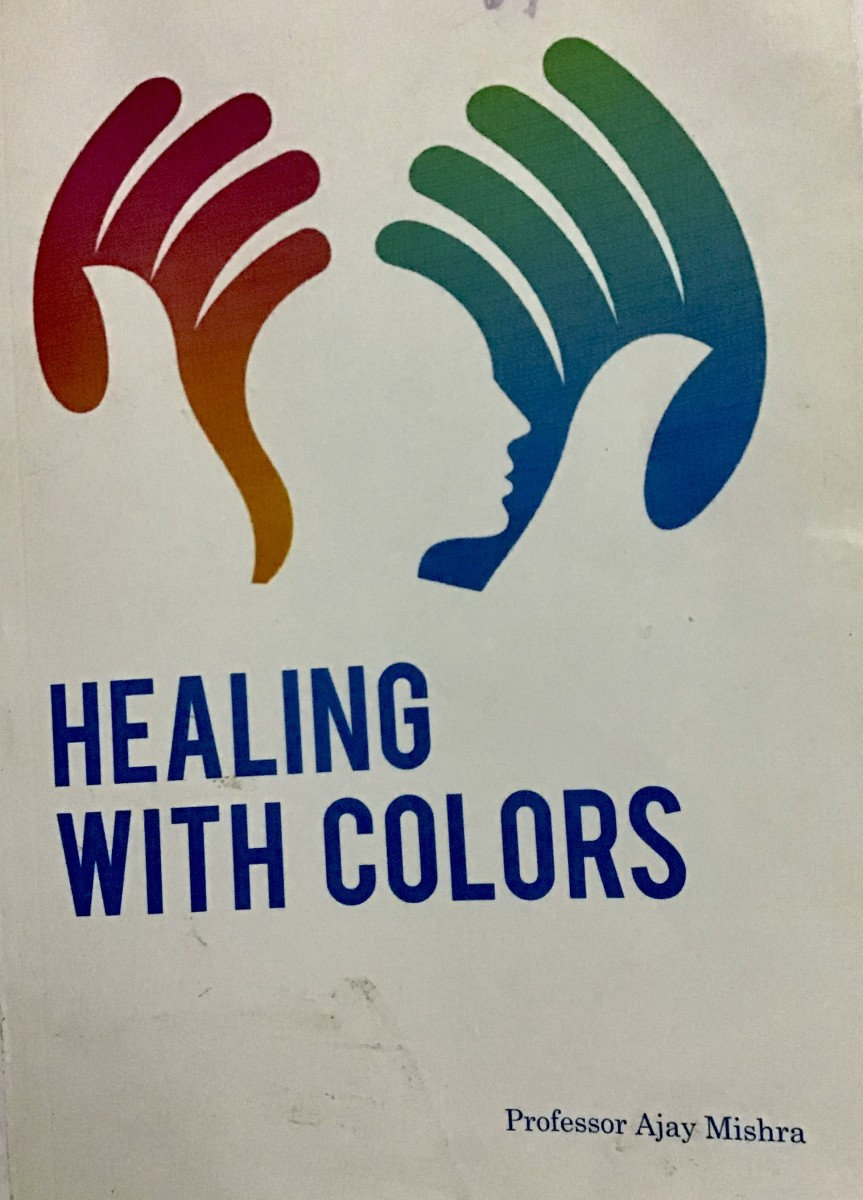 Book about colour therapy by Professor Ajay Mishra