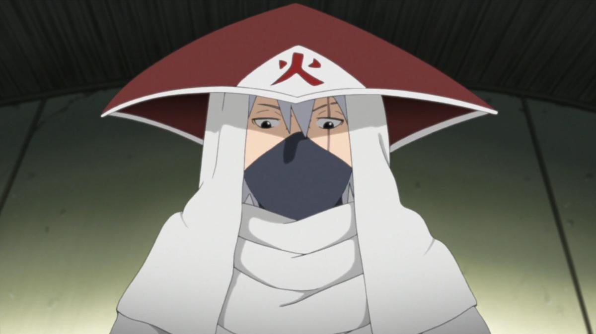 Kakashi in his Hokage attire