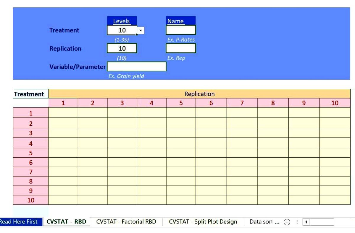 CVSTAT: Free Excel Based Anova Program for Analysis of Data From Agricultural Field Experiments
