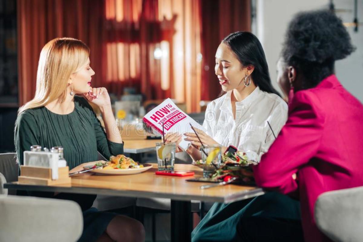 Single women conversing
